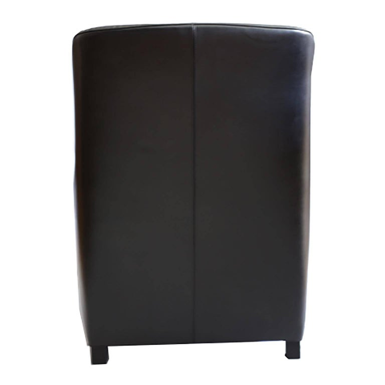 Modern B&B Italia Black Leather Kalos Chair by Antonio Citterio for B&B Italia/Maxalto For Sale