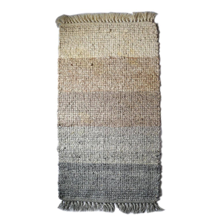 1970s Multi-Wool Salesmen Sample Throw Rug by Design Research In Excellent Condition For Sale In San Francisco, CA