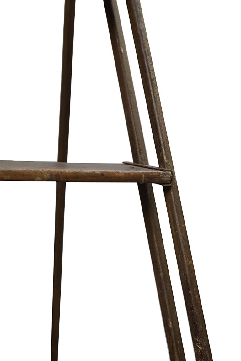 1930s Steel and Wood Ladder In Good Condition For Sale In San Francisco, CA