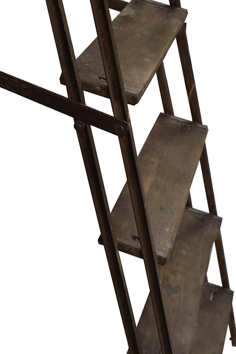 1930s Steel and Wood Ladder For Sale 2