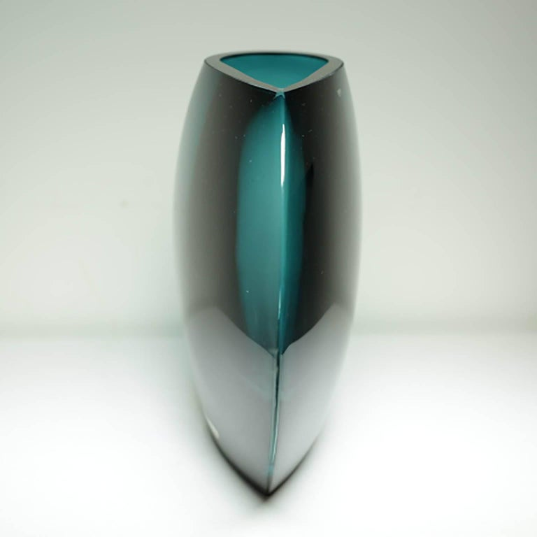 Krosno Poland Large Glass Vase For Sale At 1stdibs