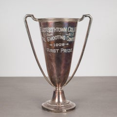 Silver Plated First Place Loving Cup Shooting Trophy 1929