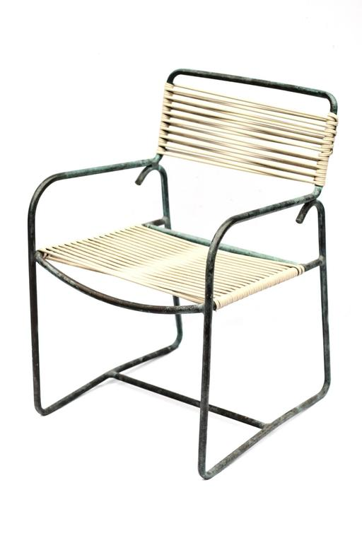 Midcentury patinated bronze walter lamb armchairs for sale for Chaise us ww2