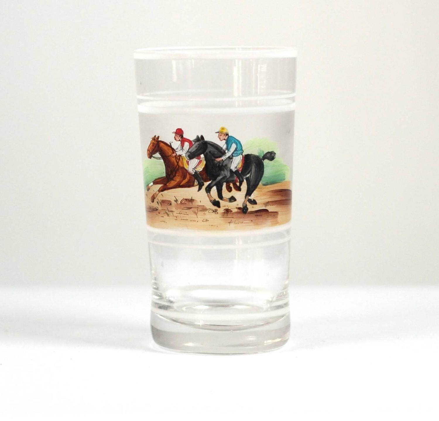 Hand painted set of english drinking glasses at 1stdibs for Hand painted drinking glasses