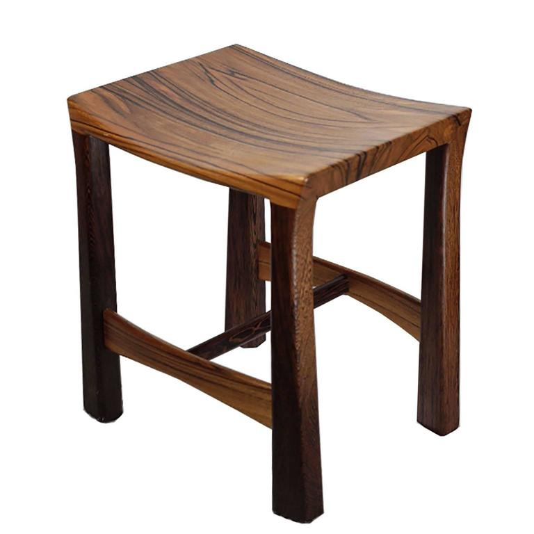 Custom Studio Weng Wood and Zebrawood Stool For Sale at  : IMG0267l from www.1stdibs.com size 768 x 768 jpeg 35kB