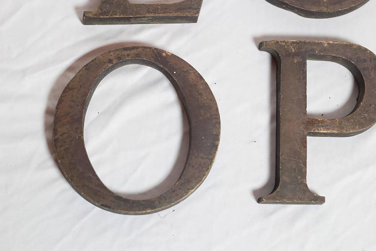 Early 20th century solid bronze letters for sale at 1stdibs for Furniture 7 letters