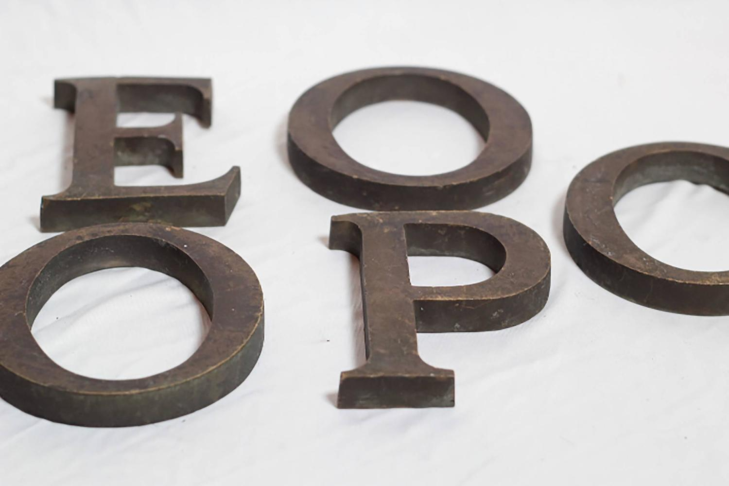 Early 20th century bronze letters for sale at 1stdibs for Furniture 5 letters