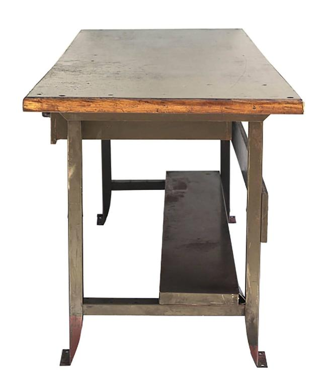 1930s Industrial Table Workbench With Orignial Machine