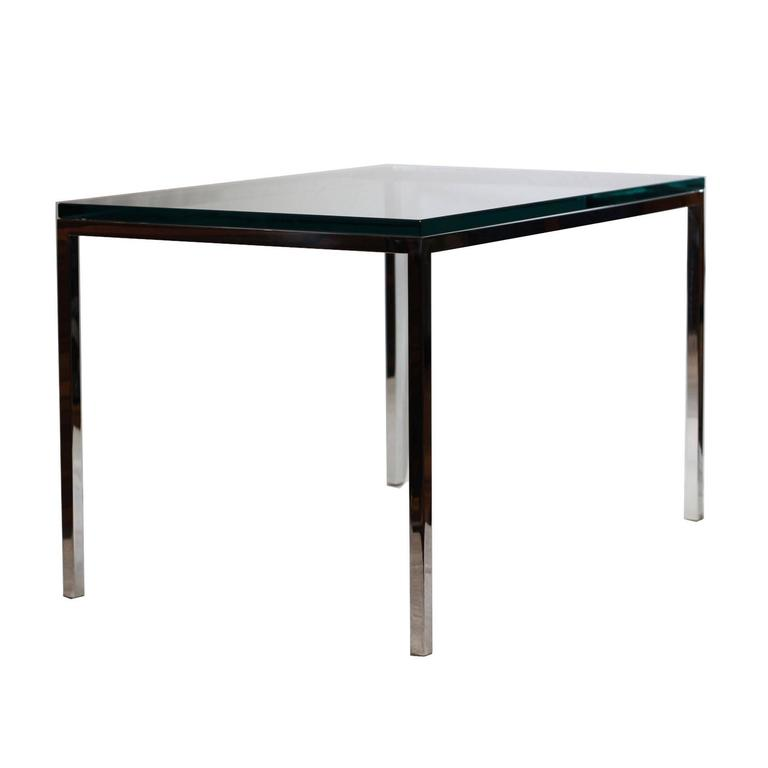 Midcentury Brueton Stainless Steel Side Table For Sale At