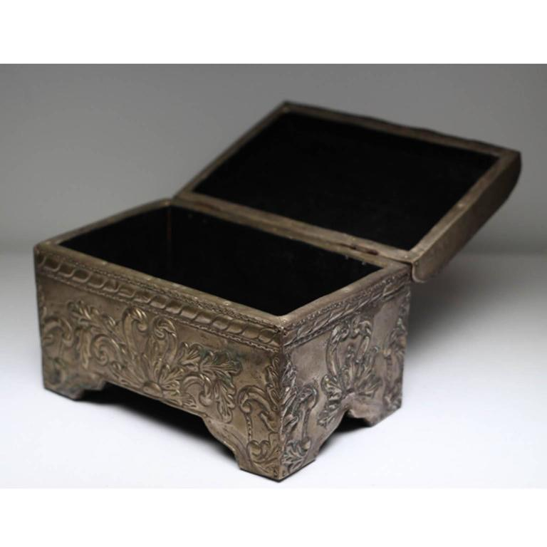 Early To Mid 20th Century Pressed Tin Box For Sale At 1stdibs