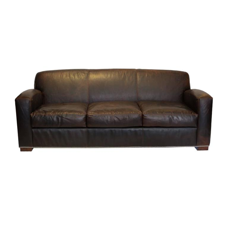 New graham leather sofa by ralph lauren for sale at 1stdibs for New sofas for sale