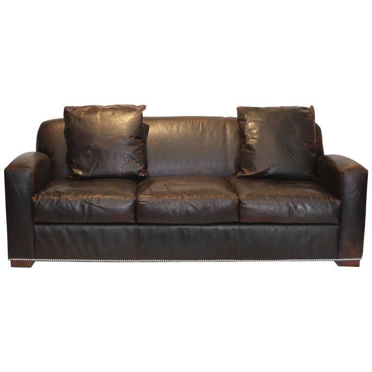 "New Couches For Sale: New ""Graham"" Leather Sofa By Ralph Lauren For Sale At 1stdibs"