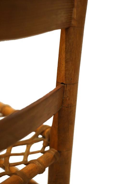 19th Century Handmade Wood Rawhide Chairs From Historic