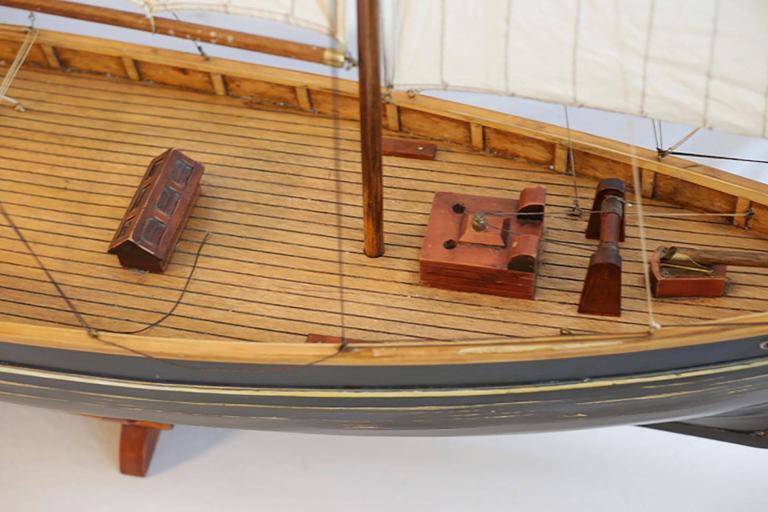 Early 20th Century Monumental Wooden Ship Model, circa 1940s In Excellent Condition For Sale In San Francisco, CA