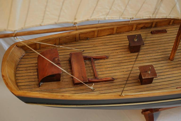 Early 20th Century Monumental Wooden Ship Model, circa 1940s For Sale 1