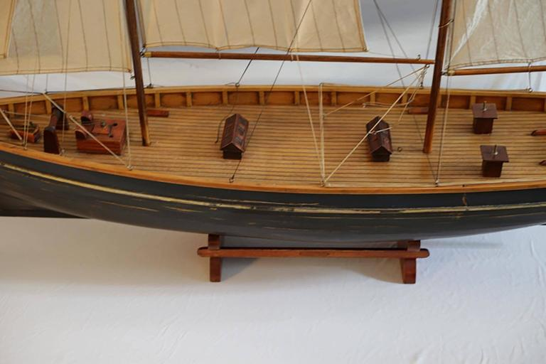 Early 20th Century Monumental Wooden Ship Model, circa 1940s For Sale 3