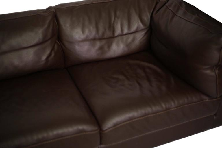 Contemporary Nicoletti for Design Within Reach Brown Leather Sectional For Sale