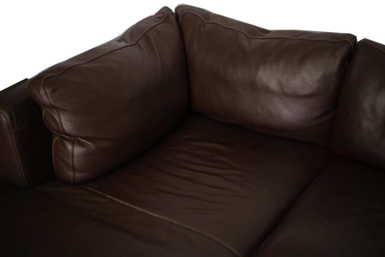 Nicoletti for Design Within Reach Brown Leather Sectional For Sale 1