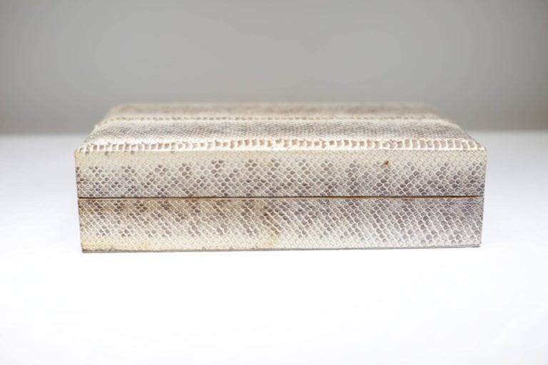 Animal Skin Genuine Snakeskin Box For Sale