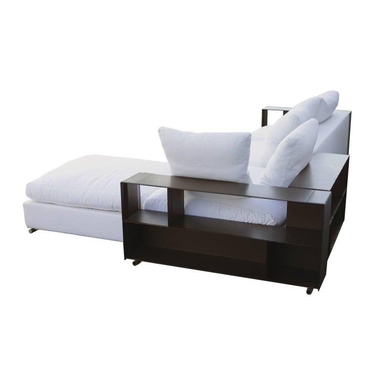 Flexform Groundpiece Modular Sofa With Leather Armrest