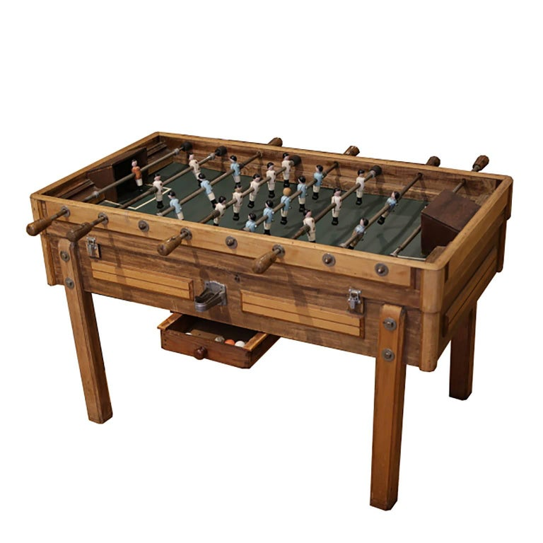 Rare Early 20th Century French Foosball Table, circa 1940s For Sale 1