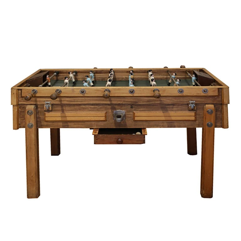 Metal Rare Early 20th Century French Foosball Table, circa 1940s For Sale
