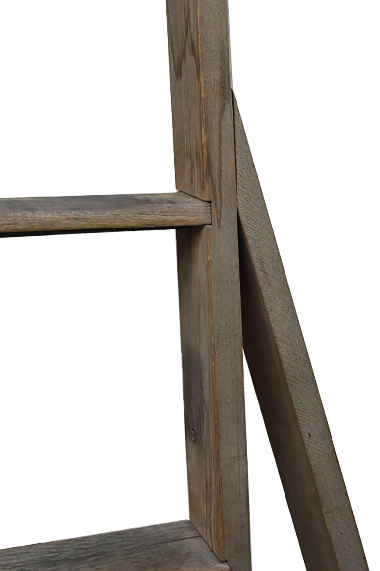 Beautiful wood ladder used to pick apples. The ladder folds out. The rungs are beautifully worn.