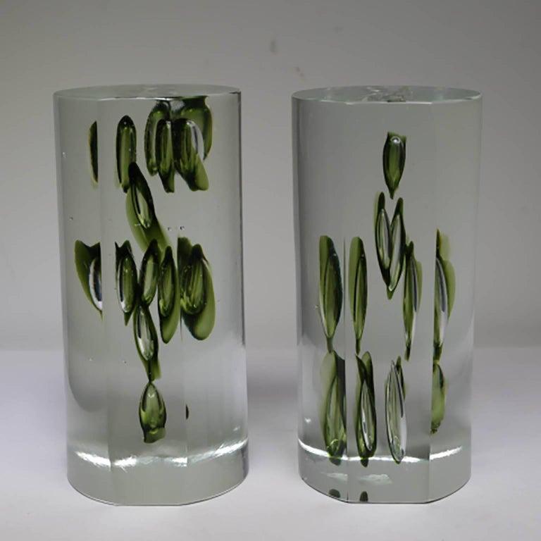 Mid-Century Modern Antonio da Ros Italian Glass Bookends, circa 1960s In Excellent Condition For Sale In San Francisco, CA