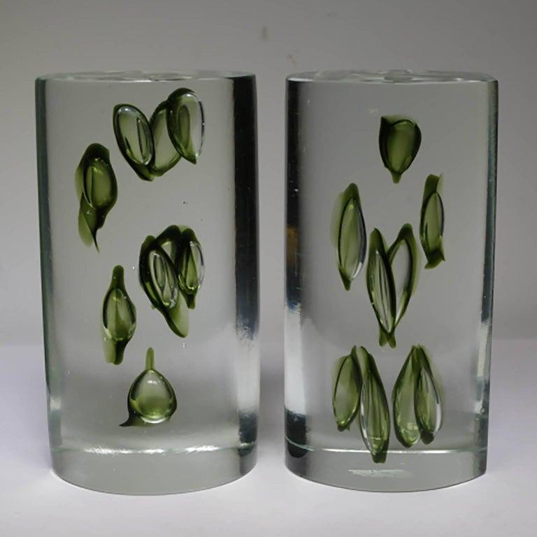 20th Century Mid-Century Modern Antonio da Ros Italian Glass Bookends, circa 1960s For Sale