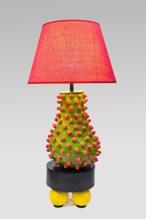 French Alice Gavalet, Unique Large Table Lamp, Loulou, 2015 For Sale