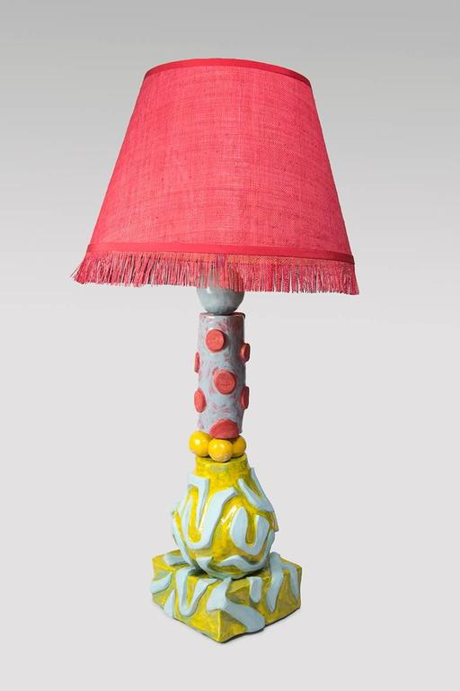 French Alice Gavalet Unique Large Table Lamp, Milonga, 2015 For Sale