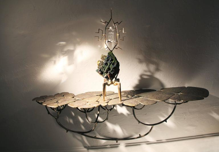 Mark Brazier - Jones 2016, Chlorophyl Bronze Console In Excellent Condition For Sale In Paris, FR
