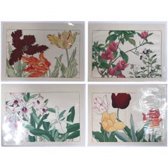 Japanese Old Woodblock Flower Prints Tanigami Konan  Immediately Frameable, #1