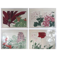 Japanese Old Woodblock Flower Prints Tanigami Konan  Immediately Frameable #2
