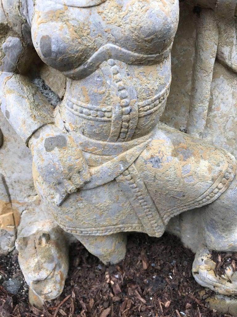 Big Sensual Stone Sculpture Parvati Goddess of Love, Fertility, Devotion In Good Condition For Sale In Shelburne, VT