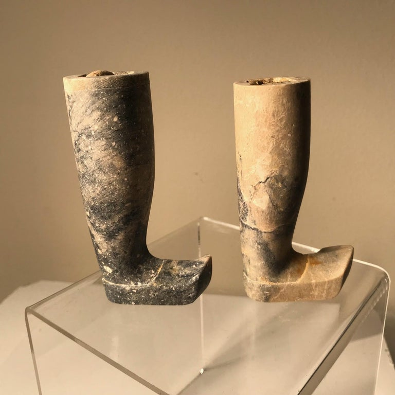 Important Ancient China Pair of Imperial Jade Leg Supports Han Dynasty For Sale 2