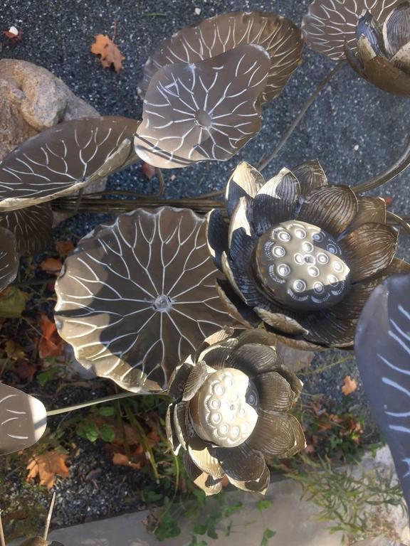 Monumental Antique Japanese Lotus Flower Bouquet Sculpture Indoor Or Garden At 1stdibs