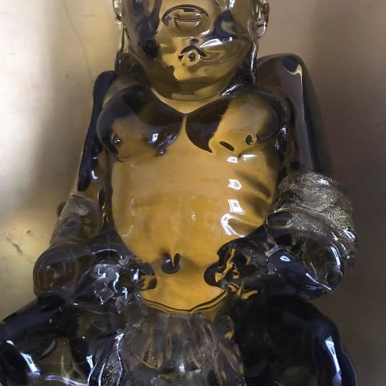Antique Hand blown BUDDHA