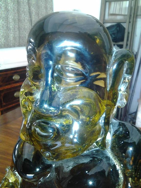 20th Century Antique Hand blown BUDDHA