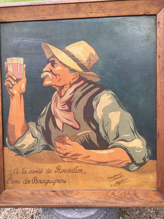 Burgundy Wine Tasting Toast to Dear Friend, 1930 French ...