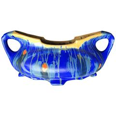 Brilliant Hand made Hand Glazed Cobalt Blue Art Nouveau Planter Jardiniere 1890