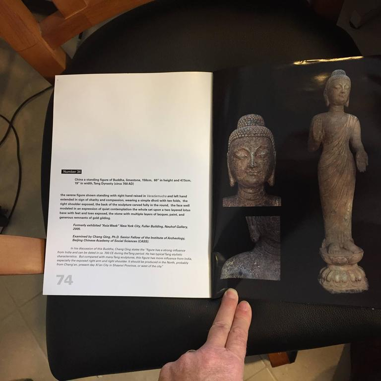 China Important Antique Standing Stone Figure of Buddha For Sale 1