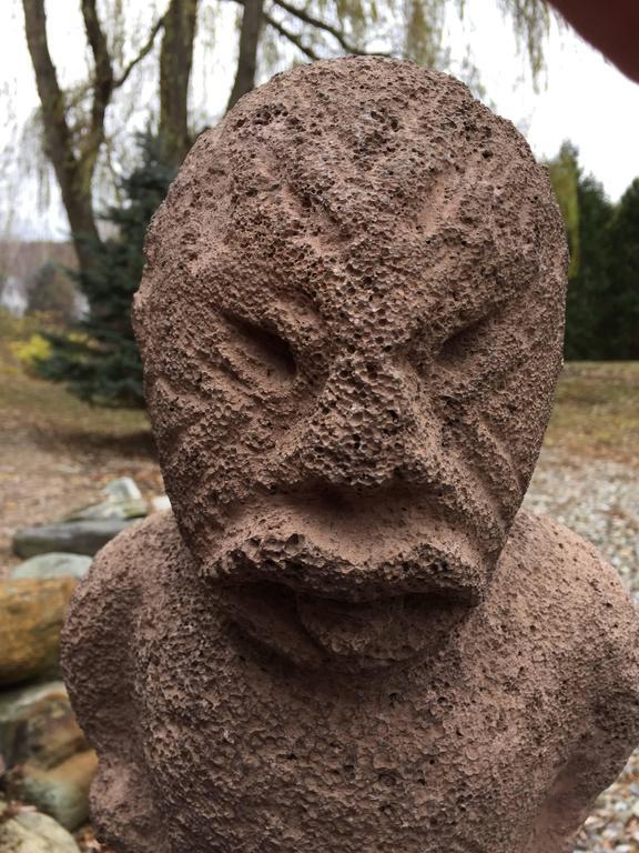 Important ancient hawaiin aumakua stone sculpture