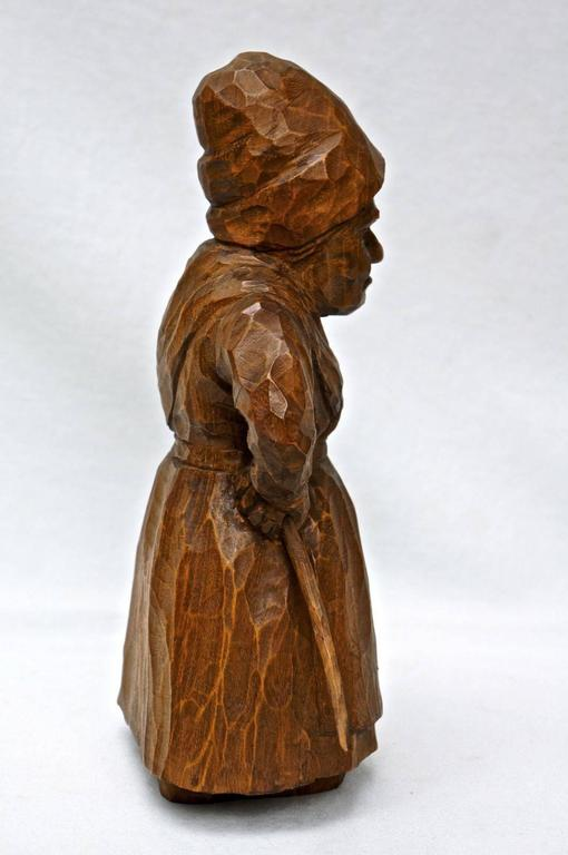 Antiquey hansel and gretel fairy tale hand carved