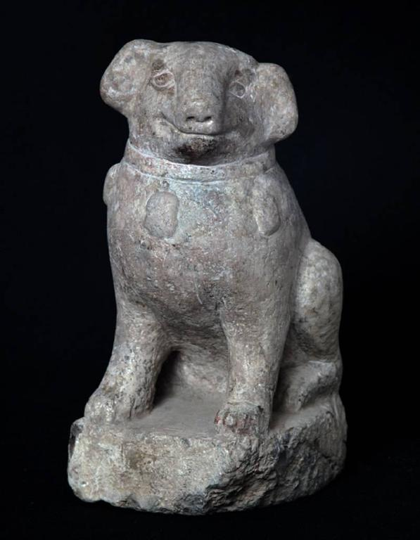 Important Ancient China Hand-Carved Effigy of a Pug Dog, Ming Dynasty 1368-1644 5