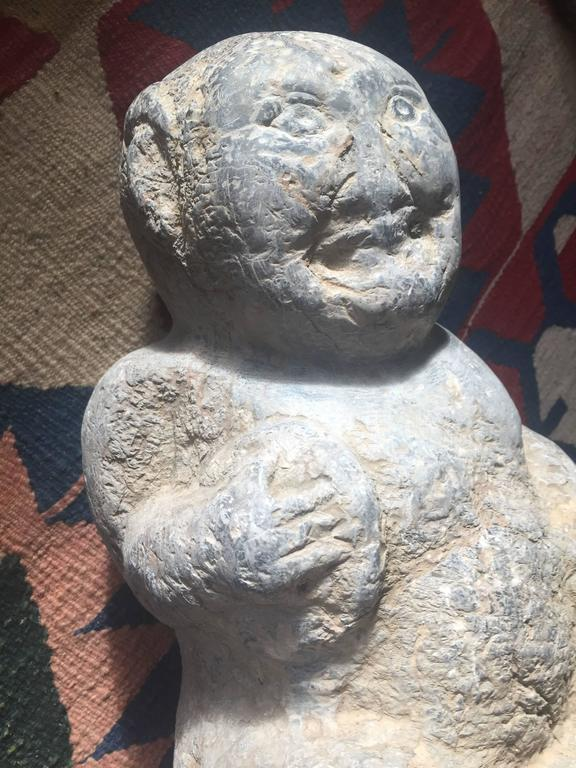China important ancient stone effigy of entertainer for
