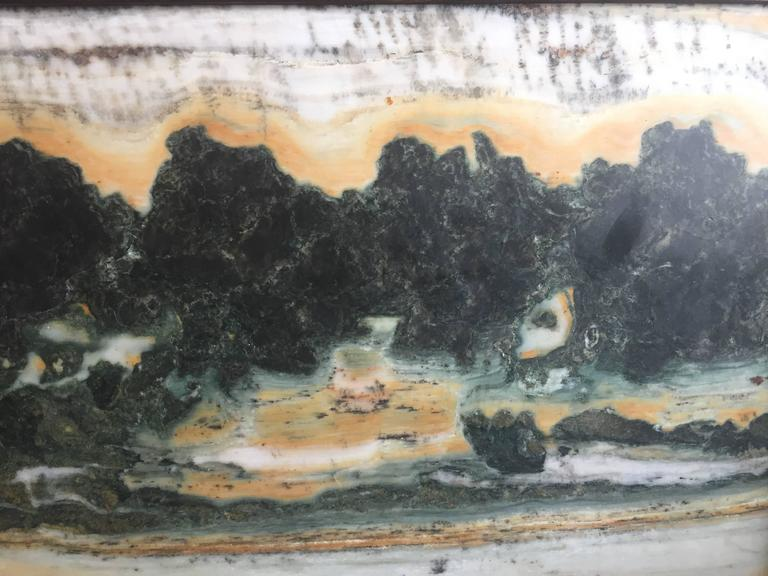 Important China Master Work Extraordinary Natural Stone Painting 19 Crags In Good Condition For Sale In Shelburne, VT
