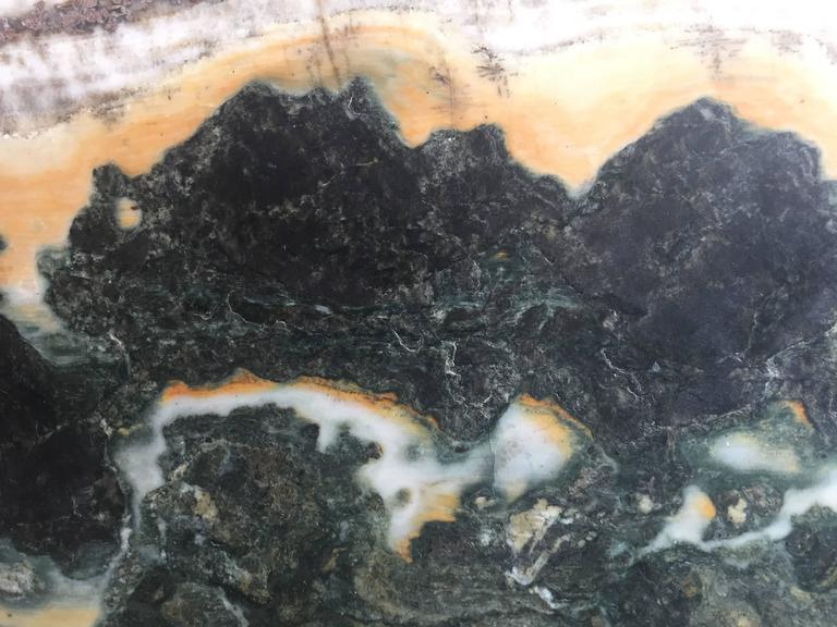 20th Century Important China Master Work Extraordinary Natural Stone Painting 19 Crags For Sale