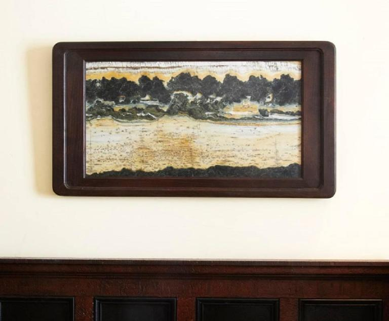 Hand-Crafted Important China Master Work Extraordinary Natural Stone Painting 19 Crags For Sale