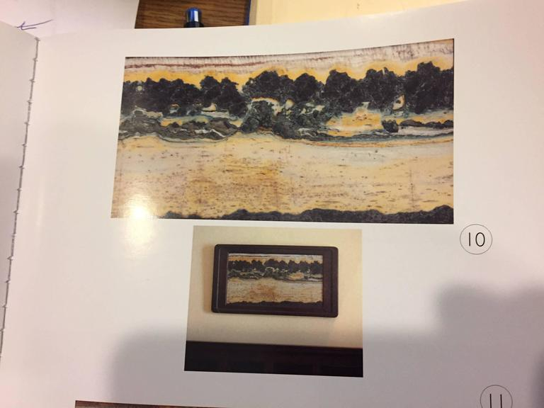 Important China Master Work Extraordinary Natural Stone Painting 19 Crags For Sale 3